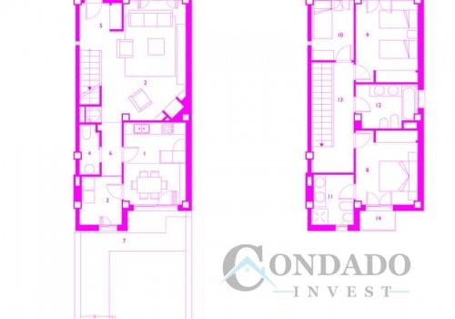 Pueblo Espanol Town House Plan Condado Invest