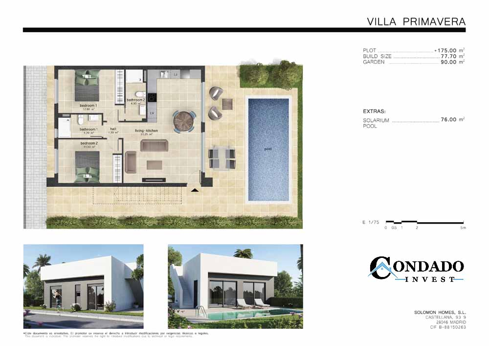 Villa primavera Plans 1 Condado Invest