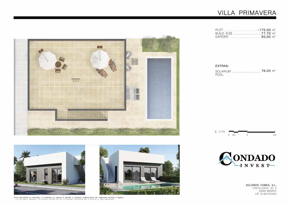 Villa primavera Plans 2 Condado Invest